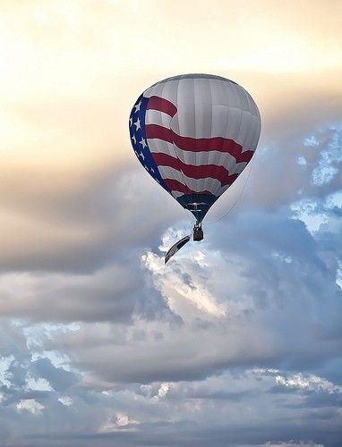 Patriotic Hot Air Balloon! #Pinterest Hot Air Balloons