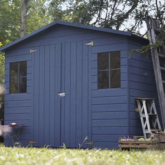 Abri de jardin en bois kluane naterial m p 12 mm for Cabane de jardin en bois leroy merlin
