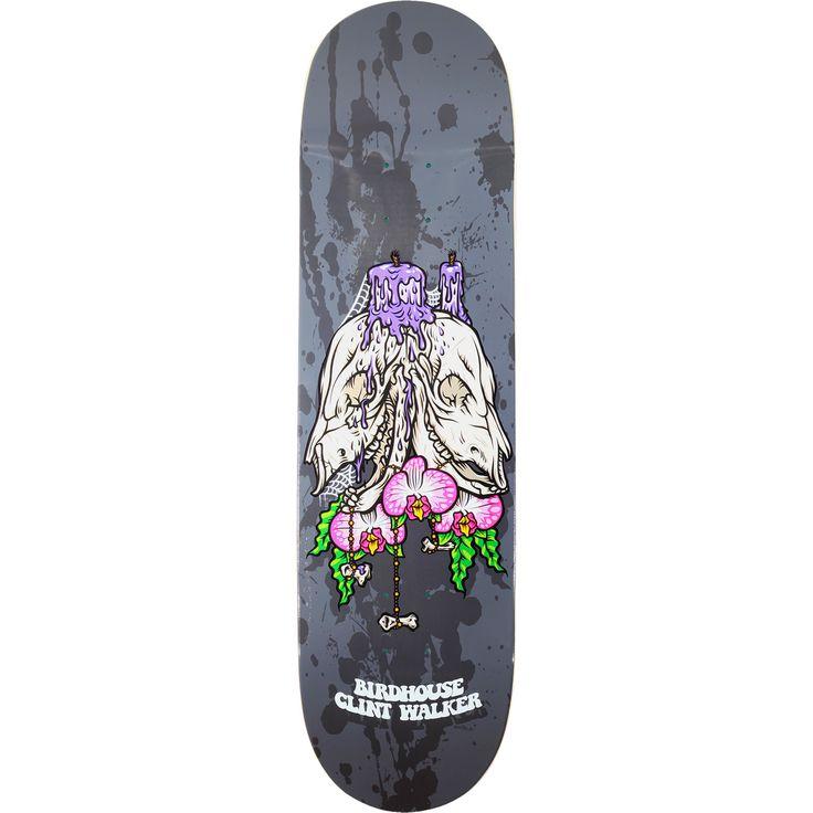 Birdhouse Skateboards Clint Walker Shrine Skateboard Deck - 8.5 x 32.5 - Warehouse Skateboards