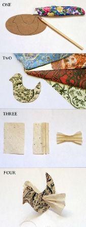 Papieren vogel 2