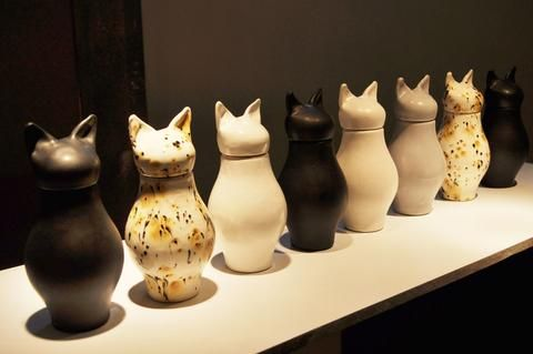 Egyptian-style Ceramic Pet Cremation Urns