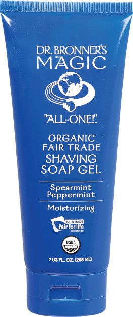 Lasts forever! My man loves this more than Gillette because it doesn't sting his face while shaving and the foam is thicker and creamy. Dr Bronner's Spearmint & Peppermint Organic Shaving Gel $13.95