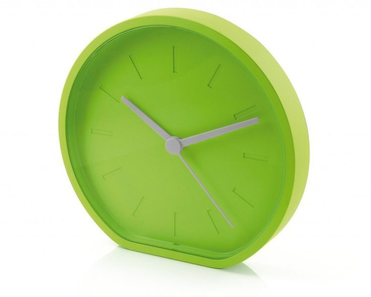 The charming Modern Mantel Clock by Lexon is versatile in it's design and functionality. The Lexon lime green Side clock can be free standing or mounted to the wall.