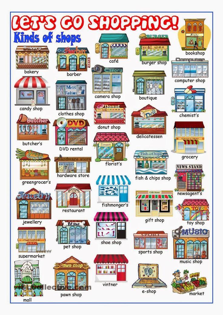 English teacher: Around Town - 2015 #LearnEnglish #GermanVocabulary #Town @English4Matura