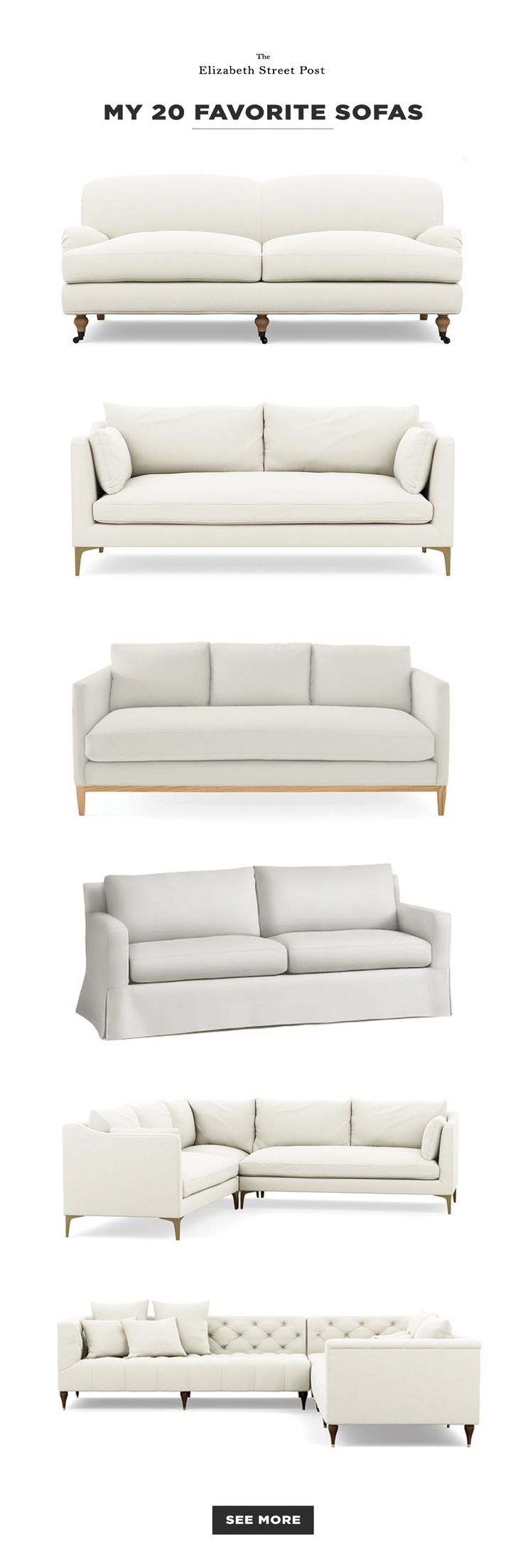 20 classic sofa designs for living rooms // my favorites