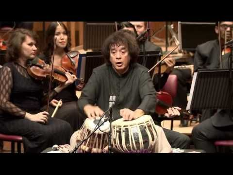 Zakir Hussain – Peshkar, concerto for tabla and orchestra – Symphony Orchestra of India - YouTube