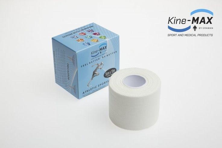 KINE-MAX NEELASTICKÝ TEJP FULL COAT 5cm x 10m - Bílá č.1