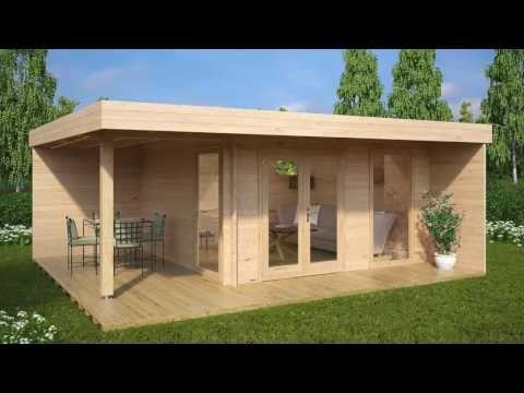 Moderne Gartenhäuser kaufen   Gartenhaus modern   Hansagarten24
