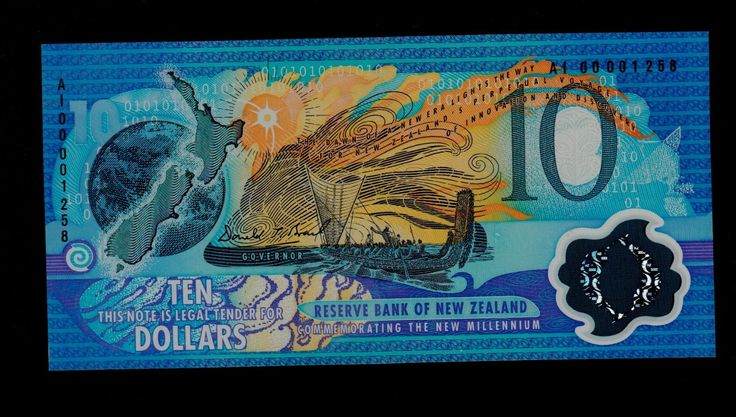 NEW ZEALAND  10 DOLLARS 2000 AI 00 PICK # 190a  UNC. picclick.com