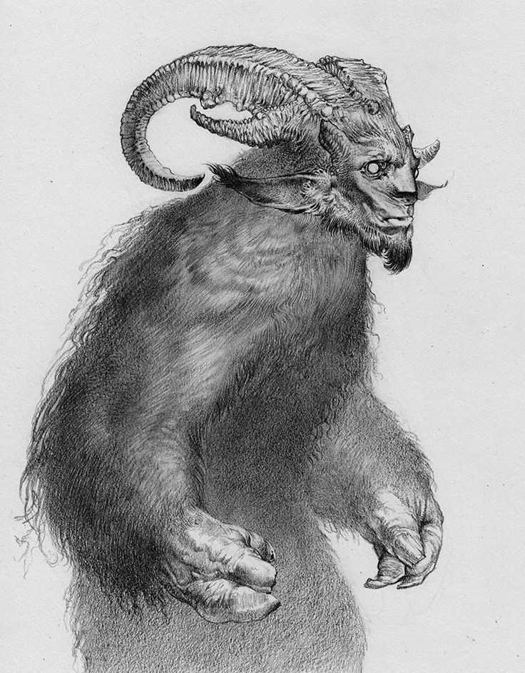 Krampus is a mythical creature recognized in Alpine countries. According to legend, Krampus accompanies Saint Nicholas during the Christmas season, warning and punishing bad children, in contrast to St. Nicholas, who gives gifts to good children. When the Krampus finds a particularly naughty child, it stuffs the child in its sack and carries the frightened child away to its lair,