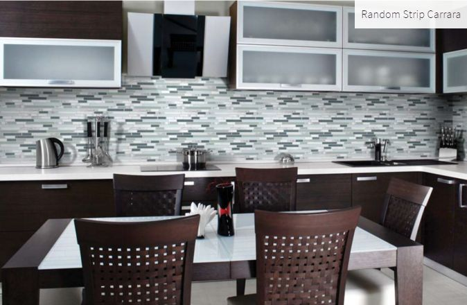 Random Strip Carrara Room Inspiration #roominspiration #kitcheninspiration #homeinspiration #faberstoneandtile
