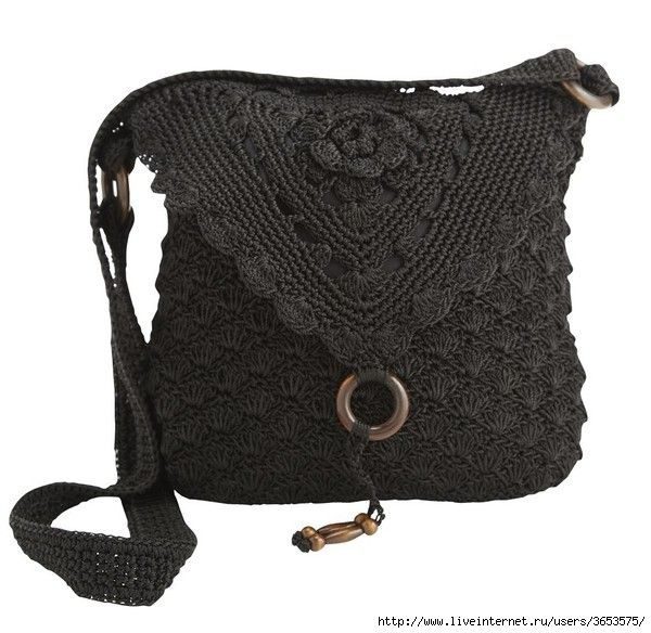 crochet bag black  diy ganchillo bolso  this and many more bags for inspiration