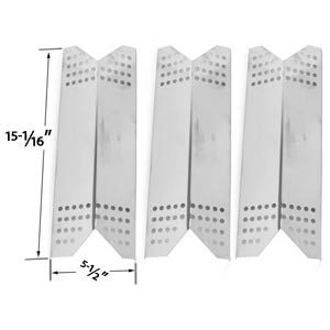 3 PACK STEEL HEAT PLATE REPLACEMENT FOR KENMORE SEARS 122.16431010, 122.16435010, 122.16643900, 16539, 1664, NEXGRILL, SUNBEAM GRILLMASTER, LOWES MODEL GRILLS