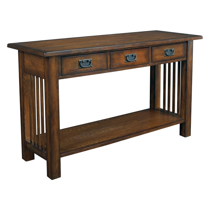 Hammary Canyon Rectangular Console Table   The Classic Mission Style Of The  Hammary Canyon Rectangular Console