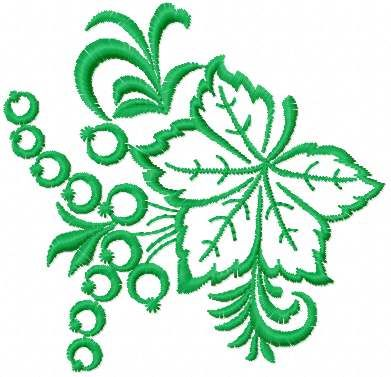 Grape free embroidery design. Machine embroidery design. www.embroideres.com
