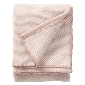 Domino wool throw - pink - Klippan Yllefabrik