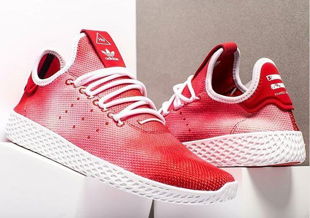 3daa83832e34c Pharrell x adidas Tennis Hu Red Holi Festival DA9615  stomperkicks   sneakers  kicks  adidas  pharrellwilliams  StomperKicks  SK