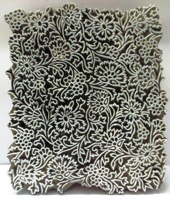 Indische hölzerne Hand geschnitzte Textildruck auf Stoff Block Stamp Fine Carving | …
