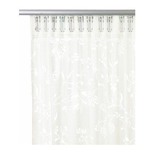 voilage 2 panneaux borghild blanc toile et rideaux. Black Bedroom Furniture Sets. Home Design Ideas