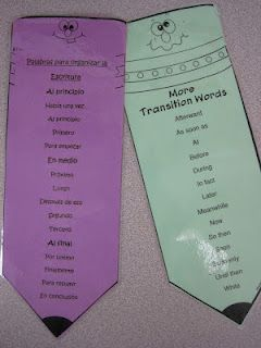 Transition words in Spanish & English