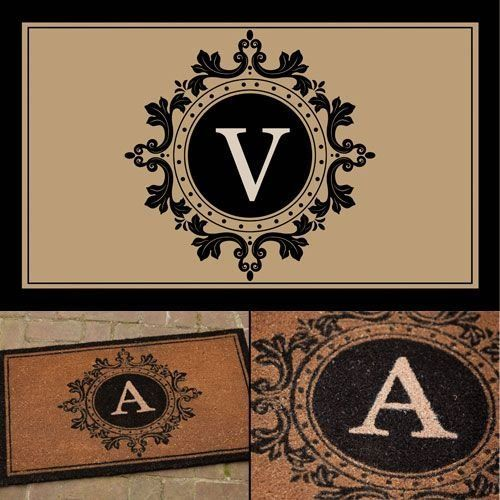 Imperial Monogram Coir Mat - V by Initial Boutique. Save 37 Off!. $24.98. 36 x 22. extreme durability. Extracted from the hairy husk of a coconut. 100% go-green. anti-skid surface. Historically, monograms were used as royal signature. The Romans and Greeks used them on coins to identify their rulers; Artisans used them to sign their work and Victoria-period high class persons used them as a symbol of their place in society. Monograms retain their elitist aire today and continue to be a p...