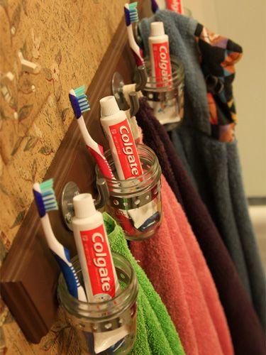 Bathroom Organization Ideas - DIY Bathroom Storage Ideas - Country Living--for the kids bath at the beach