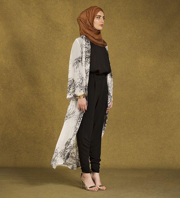 Maxi Printed Kimono - £31.99 : Inayah, Islamic Clothing & Fashion, Abayas, Jilbabs, Hijabs, Jalabiyas & Hijab Pins
