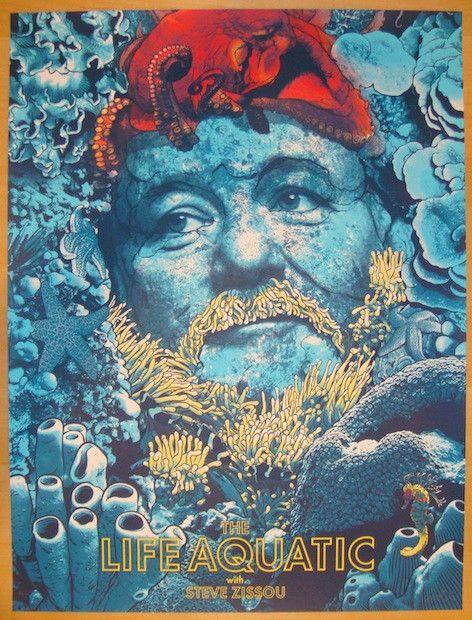 "2013 ""The Life Aquatic"" - Movie Poster by Joshua Budich | JoJo's Posters"