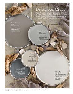 Neutral Paint Color Scheme - Gray Warm Tones - Interior Home Painting Ideas