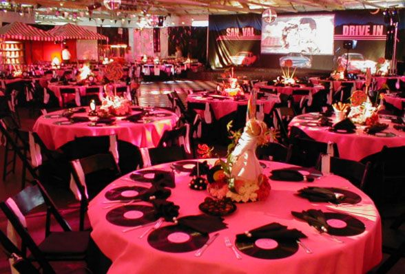 Grease Themed Party!! This is exactly what I want.....maybe not as pink (though i lurve me some pink)