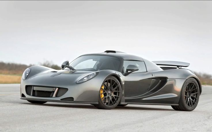 Hennessey Venom GT (Quickest modified production car) Twin turbocharged 7.2 litre V8 1200 bhp with top speed of 278 mph 0-60: 2.7 Sec