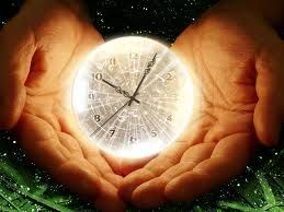 This image shows time in someone's hand, which is true because of how time was manipulated to slow down the aging of the circus members.