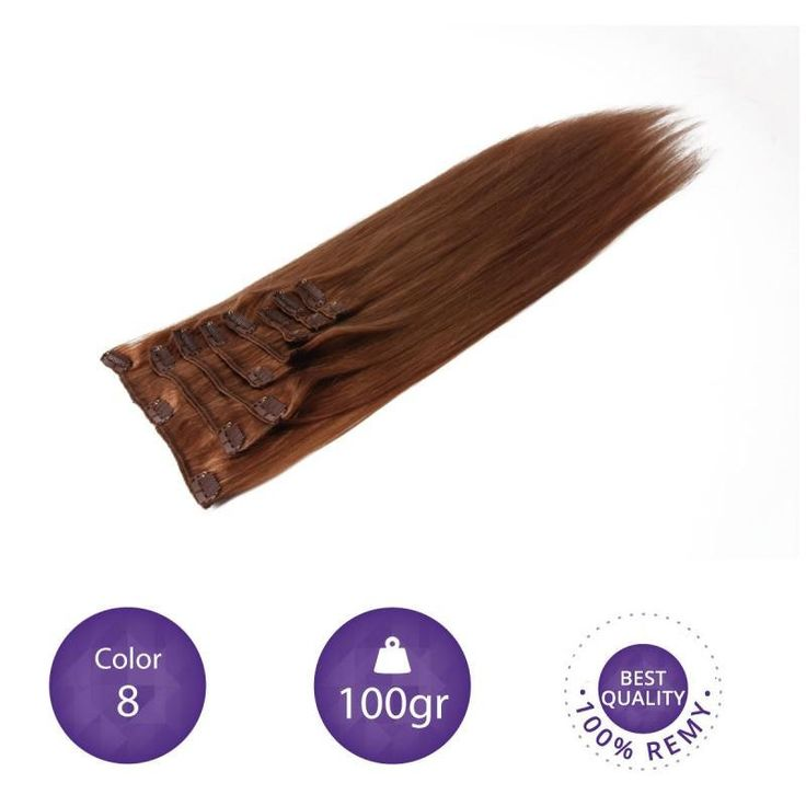 """Clip in Extensions 100% Human Remy natural hair. 55 cm long. 22"""" color 8 by peloxtensiones on Etsy"""