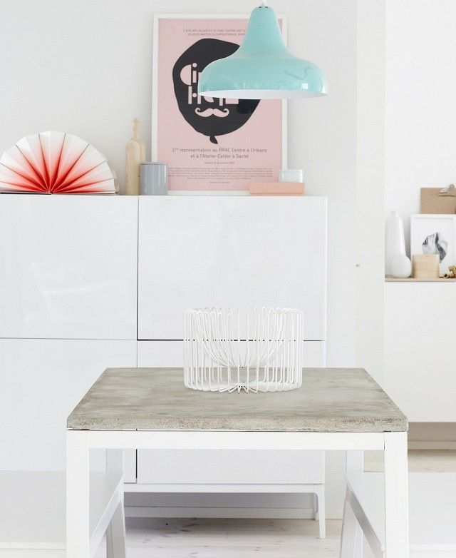 DIY IKEA Concrete-Topped Accent Table