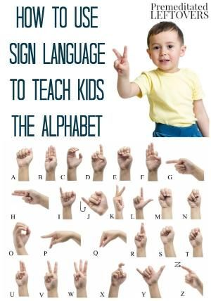 How to Use Sign Language to Teach Kids the Alphabet - This is a fun alphabet activity! Combine ASL with your child's favorite ABC song to help teach them the letters of the alphabet. This frugal educational game only requires your hands and voice. Includes video teaching how to make letters in sign language. by Sarah Bush