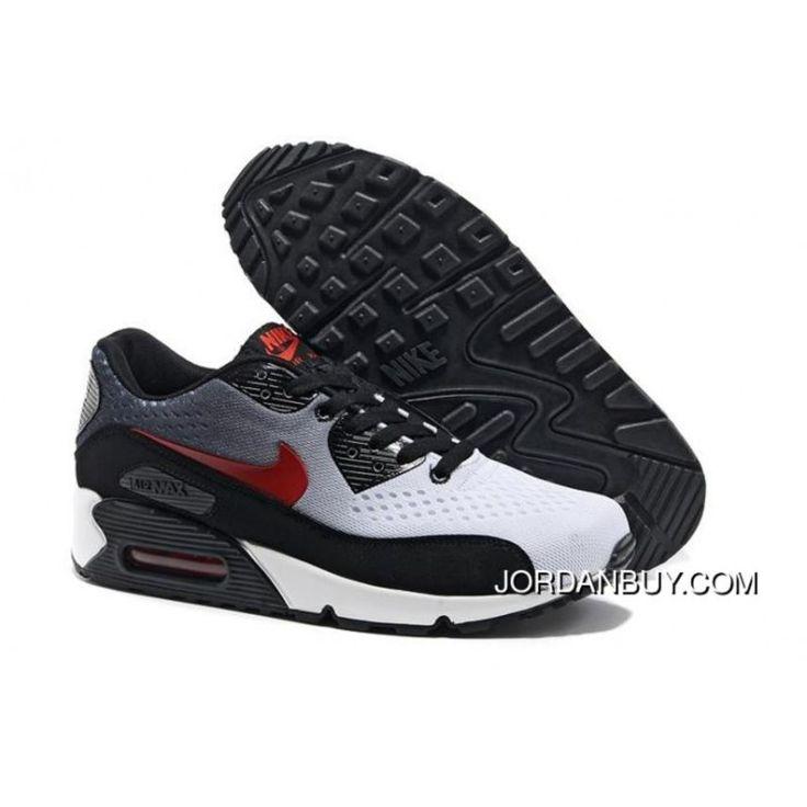 Fashion Nike Air Max 90 EM Mens Shoes 2014 Black Grey White