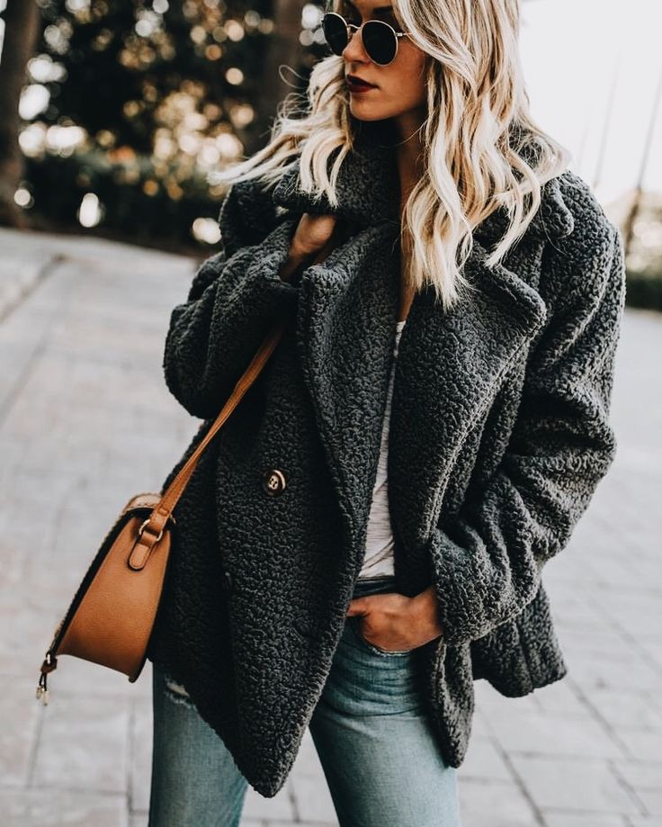 Grey winter coat outfit, style, fall fashion