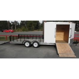 New 7 x 20 Enclosed / Utility Motorcycle Lawn Mower Cargo Trailer | 10457 | $4,275.00