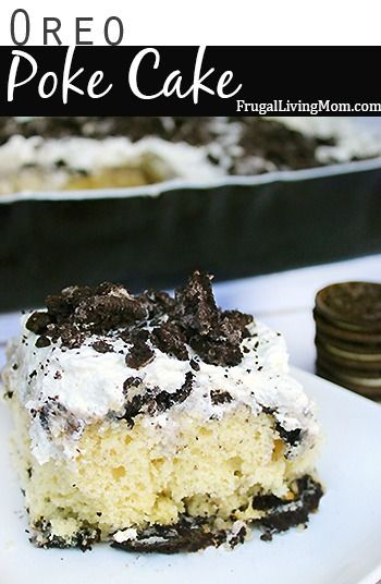 If you are looking for a delicious dessert to serve after a leisurely Sunday meal, or to contribute to the next potluck then this Oreo poke cake recipe is a sure winner.