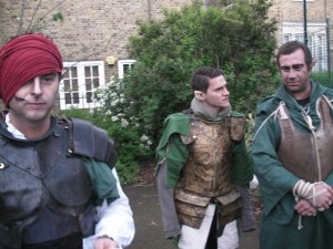 Ioveth and his elves at the UK launch of The Witcher 2: Assassins of Kings' Enhanced Edition
