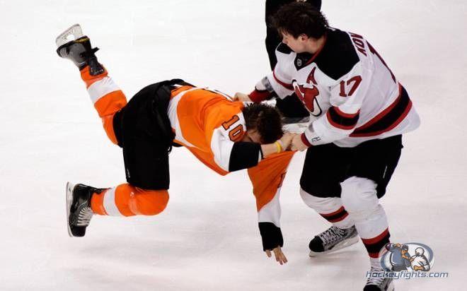 Flyers vs Devils: Brayden Schenn underestimates Ilya Kovalchuk's fighting skills and gets sent to the ice