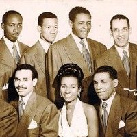 Celia Cruz made her big break in 1950 in the Sonora Matancera band after the previous lead singer left.