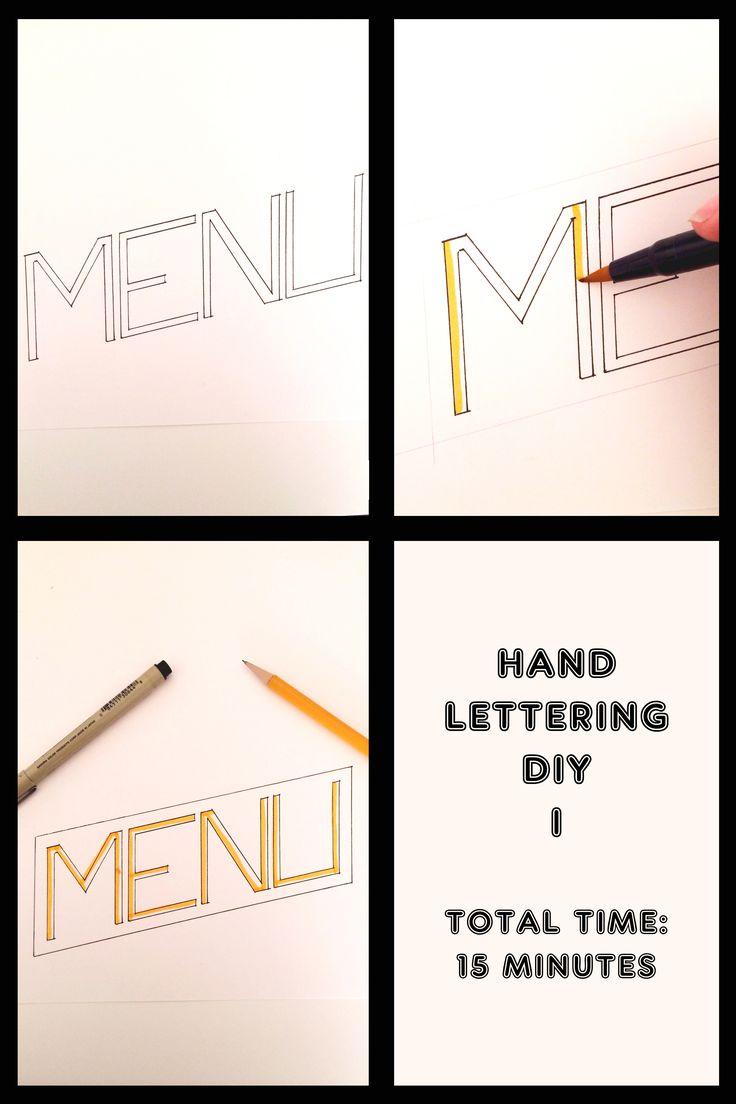Hand Lettering attempt: Menu Title