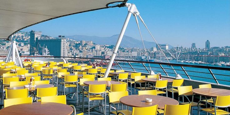 Did you know that our #Breeze, the icon designed by Carlo Bartoli, is on cruise ships?  The stackable armchair Breeze has a frame made of aluminum polished, satin or lacquered, seat and backrest plastic. Even as an outdoor model available.