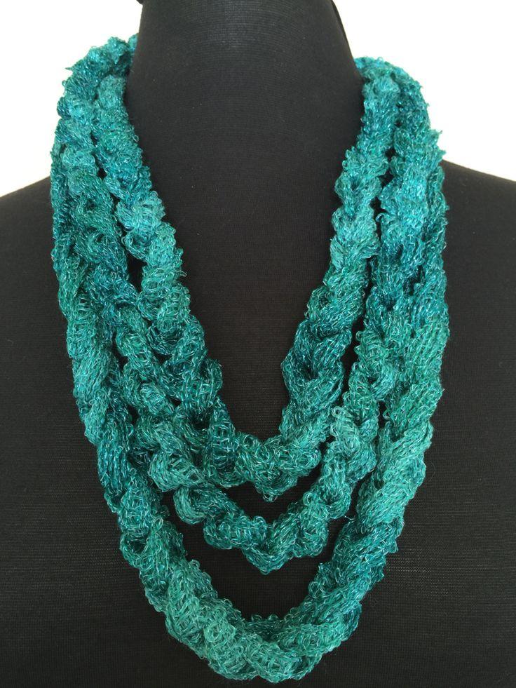 Children's Crochet Chain Scarf by VAVEBoutique on Etsy