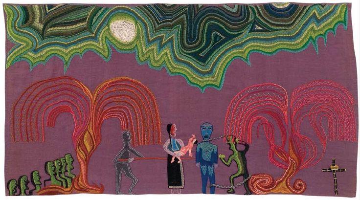 Fresia y Caupolicán.  1964-1965.  142 x 196 cm.  Violeta Parra