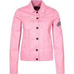 Hurley Kurtka jeansowa techno pink