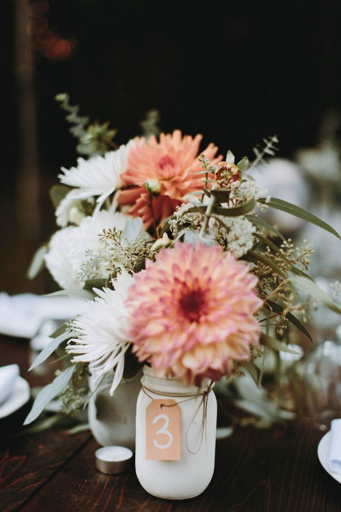 Pink + white wedding floral design  | Image by Anni Graham Photography