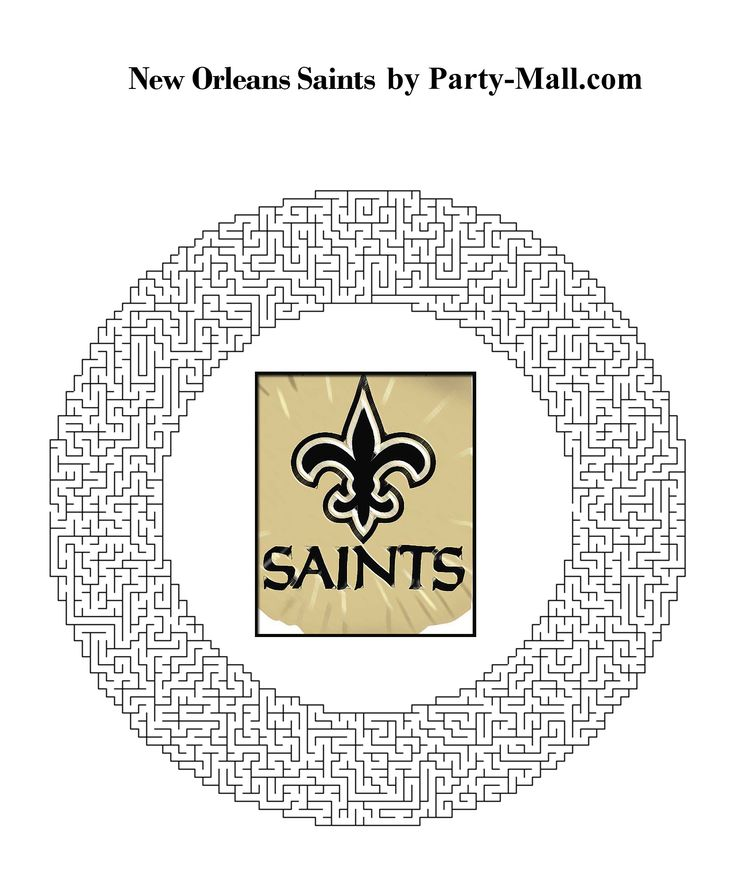 saints football coloring pages - photo#30
