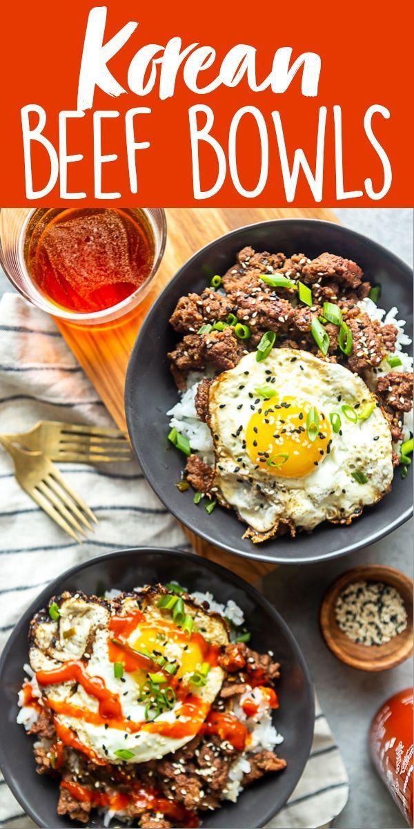 Korean Ground Beef Bowls Recipe Healthy Beef Recipes Beef Recipes Easy Dinners Dinner With Ground Beef